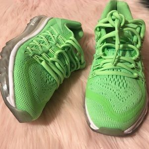 Nike Neon Voltage Green Sneakers Air Max Boys
